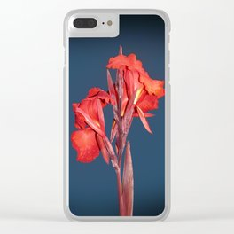 Canna Lily Clear iPhone Case