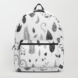 Leaves Black and White Backpack