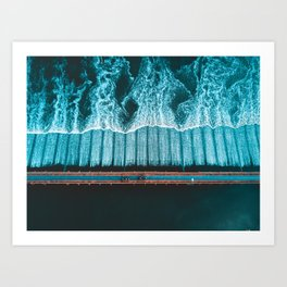 River Crossing - Thailand Art Print
