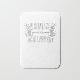 Motivating Visualize The Achievement Workout Apparel Silver Bath Mat