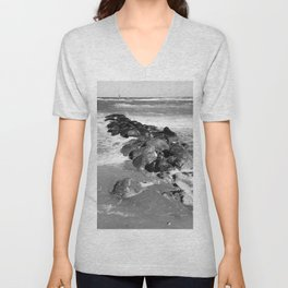 Breakwater on the Baltic Sea Unisex V-Neck