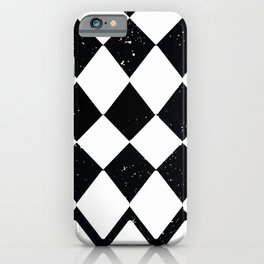 Night Stars and Checkerboards and Harlequins iPhone Case