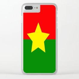 Flag of Burkina Faso Clear iPhone Case