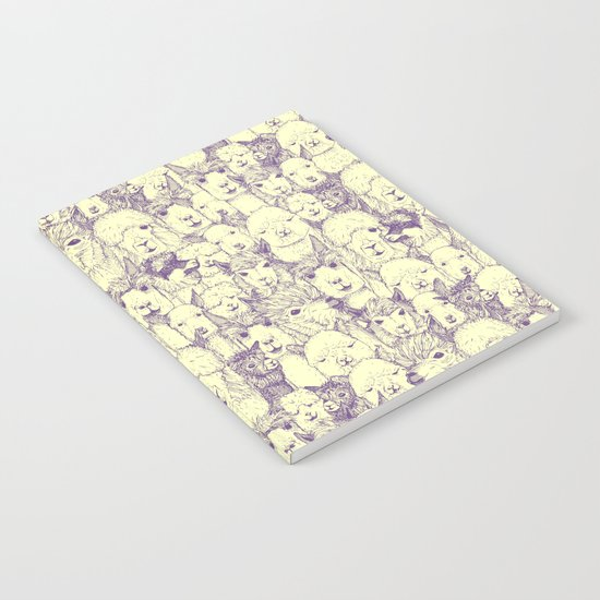 just alpacas purple cream Notebook