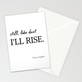 I'll rise #minimalism 2 Stationery Cards