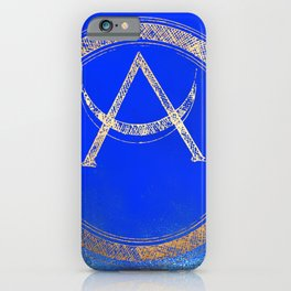 Lunar Goddess - Cobalt Gold Moon iPhone Case