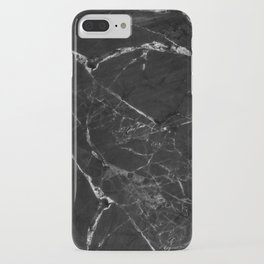 Black Marble Print II iPhone Case