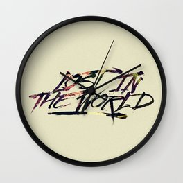 Lost in the world Wall Clock