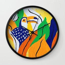 Toucan Painting Wall Clock