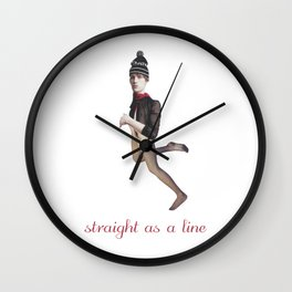 Straight as a line Wall Clock