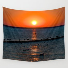 Summer Sunset on the Baltic Sea Wall Tapestry