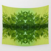 leaf Wall Tapestries featuring Leaf by Cs025