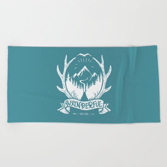 wanderful! Beach Towel