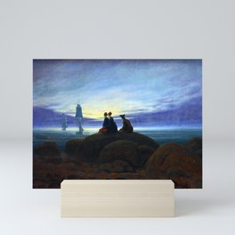 Caspar David Friedrich Moonrise over the Sea Mini Art Print
