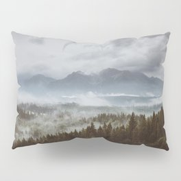 Misty mountains - Landscape and Nature Photography Pillow Sham