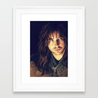 kili Framed Art Prints featuring kili portrait by Ronnie