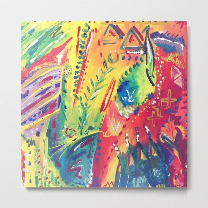Splashes of colour Metal Print