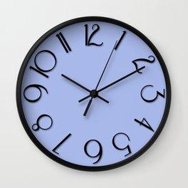 Reisling b blue bl Wall Clock