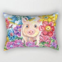 Penelope Pig Rectangular Pillow