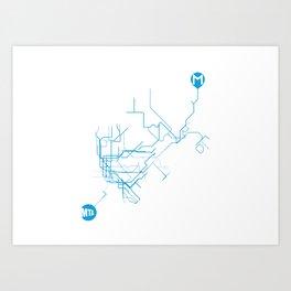 Subway - nyc vs istanbul Art Print