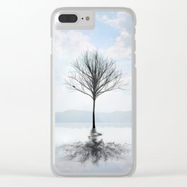 Ice Tree Clear iPhone Case