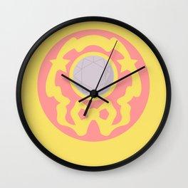 Silver Crystal Compact Wall Clock