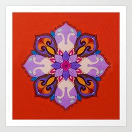 מנדלה אהבה - Love mandala Art Print