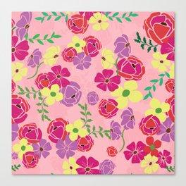 Bonny blooms Canvas Print