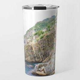 Colorful Cinque Terre, Italy, View of Riomaggiore Travel Mug
