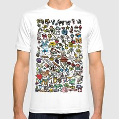 100 things White MEDIUM Mens Fitted Tee