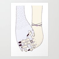 HOME IS WHERE YOU ARE WITH ME Art Print