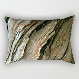 Old Olive tree weathered wood Rectangular Pillow