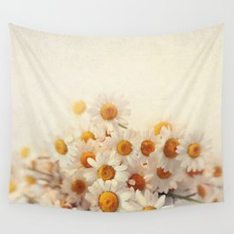 daisies on a stool Wall Tapestry