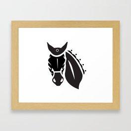 Hanoverian (black on white) Framed Art Print