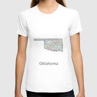 oklahoma T-shirts featuring Oklahoma map by David Zydd - Colorful Mandalas & Abstrac