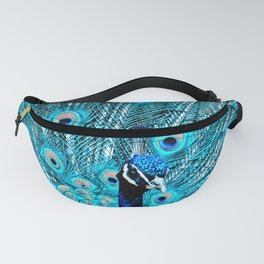 Peacock  Blue 11 Fanny Pack