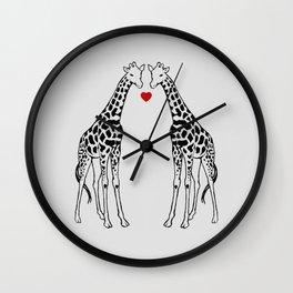 Giraffe Love Wall Clock