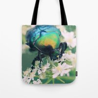 bug Tote Bags featuring Bug by Falko Follert Art-FF77
