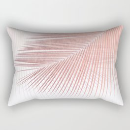 Palm leaf synchronicity - rose gold Rectangular Pillow