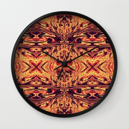 Psychedelic geometry pattern (Acid session vol.1) Wall Clock