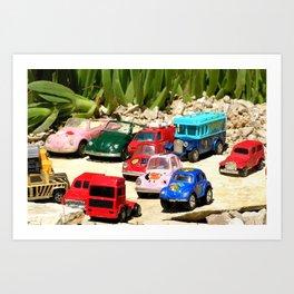 small cars Art Print