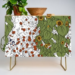 Great Prairie with Sunflowers Credenza