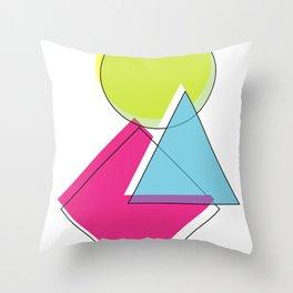 Geometric Slipped Salad i. Throw Pillow