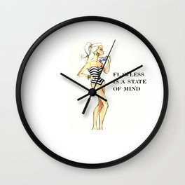 flawless is a state of mind Wall Clock