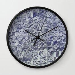 Cubed Butterflies Wall Clock
