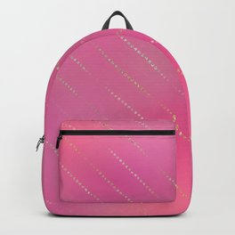 Pretty Pink Gold Dot Stripe Pattern Backpack