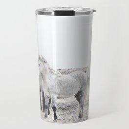 WILD AND FREE  1 - HORSES OF ICELAND Travel Mug