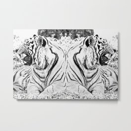 Tigers mirror Metal Print