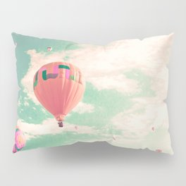 Pink nursery hot air balloons Pillow Sham