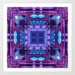 Purple Neon Art Print